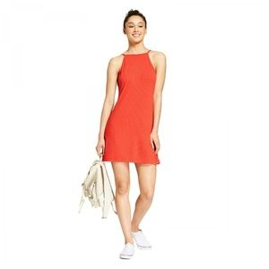 NWT Mossimo T-Shirt Tank Swing Dress Small Orange